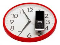 Alarm Clock Ticks Out, Mobile Phone In