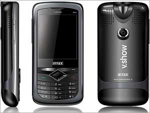 Projector Phones: Spice M9000 PopKorn & Intex V Show Mini Theatre IN 8809