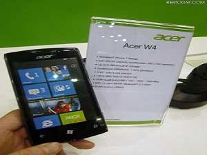 Acer Picks Windows Over Android For W4