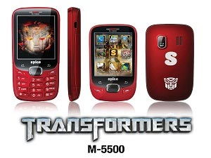 Spice Transformer – First Transformer Phone In India