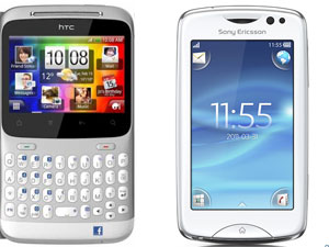 HTC ChaCha And Sony Ericsson Txt Pro Head To Head Comparison