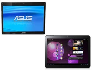 Samsung Galaxy Tab 10.1 And Asus EEE Pad Transformer Head To Head Comparison