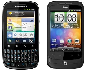 HTC Wildfire Vs Motorola Fire Head To Head Comparison