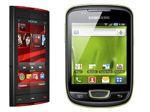 Nokia X6 And Samsung Galaxy Mini Head To Head Comparison