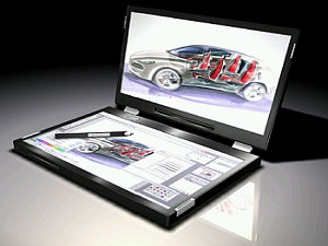 New Canova Dual Screen LCD Laptop