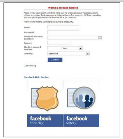 Threatening Facebook scam forces to delete account
