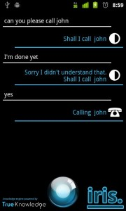 Iris: a Siri style app for Android