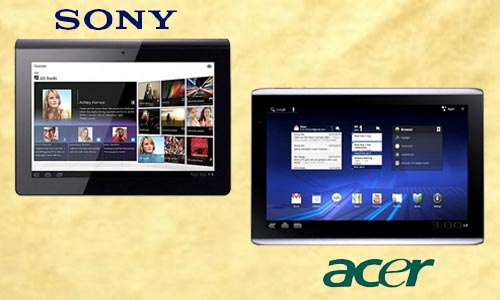 Acer Iconia A 500 and Sony Tablet S