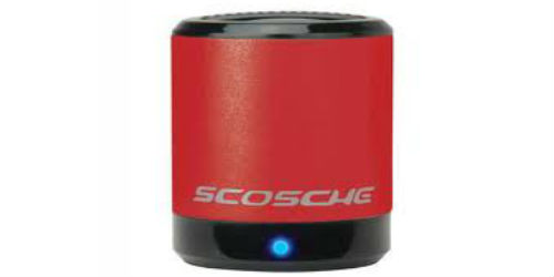 Enjoy music with the Scosche BoomCan music speakers