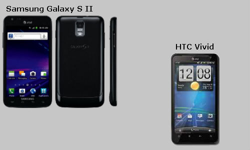 HTC Vivid & Samsung Galaxy S II Skyrocket now up for sale
