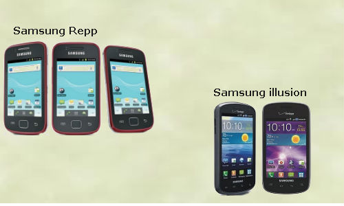 Compared: Samsung Illusion, Samsung Repp Android SmartPhones