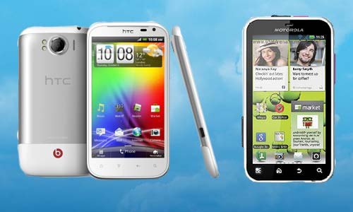 Motorola Defy Plus and HTC Sensation XL