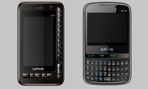 G'Five's  G616 Tri-Sim, G303 dual-sim mobile phones