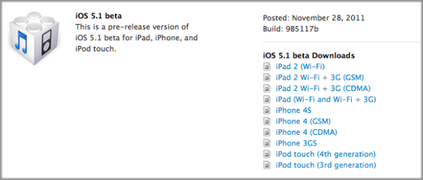 Apple offers an early iOS 5.1 taste for developers