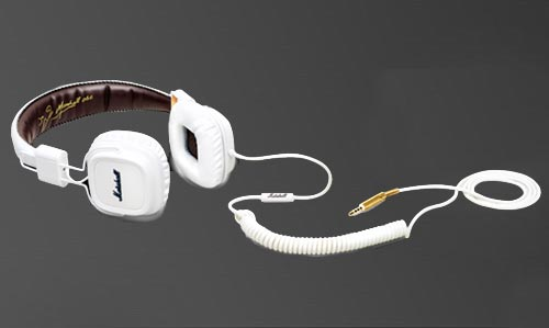 Marshall Major white headphone with super soft ear cups