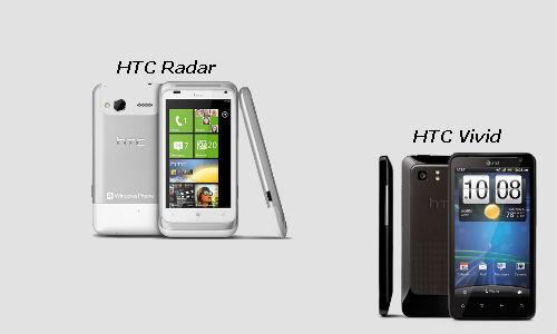 HTC launching new HTC Radar 4G and HTC Vivid 4G smartphones
