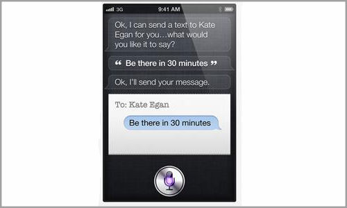 How iPhone 4S acts as a virtual assistant?