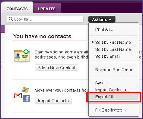 How to back up contacts and email as its year end?