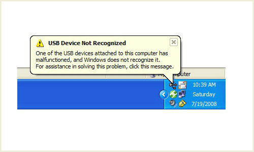 How to fix up issue of USB drive not getting recognized?