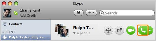 How to set up a conference call on Skype in MAC OS system?