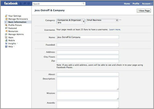 How to set up facebook page for business?