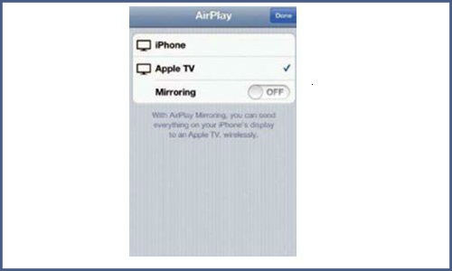 How to turn on airplay feature in iPhone?