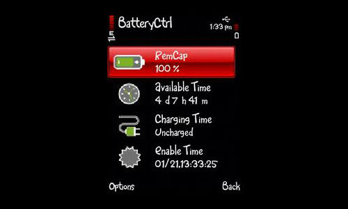 Battery Life app for smartphones