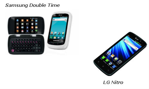 Presenting two revolutionary android smartphones: The Samsung Double Time & the LG Nitro Hd