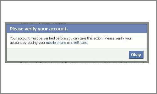 facebook verify account without mobile phone