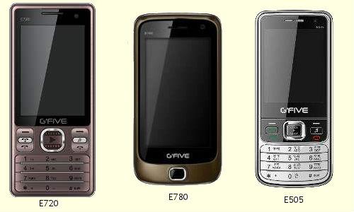 Gfive extends MovieKing series mobile phones