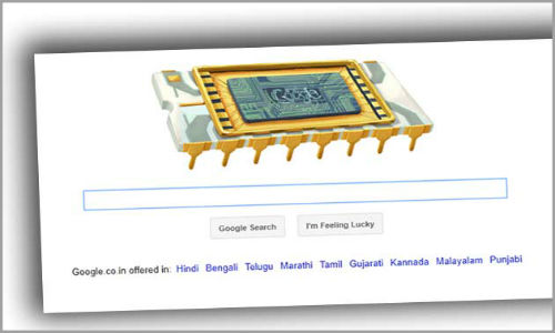 Google doodles Robert Noyce's 84th Birthday