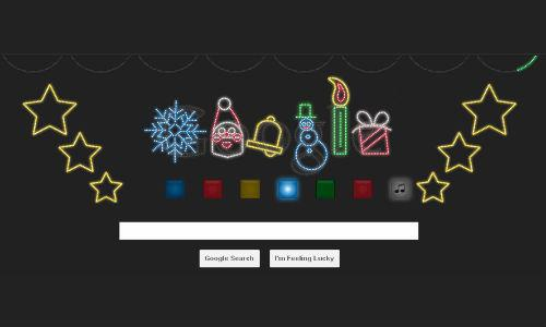 Google's Happy Holidays doodle plays jingle bells tube