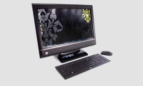 HP TouchSmart 9300 Elite, a touch sensitive desktop PC launched