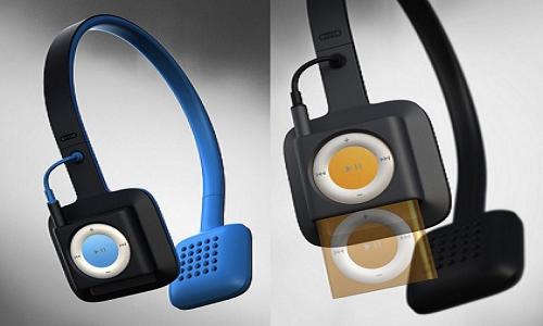 ODDIO1: Cordless iPod shuffle headphones