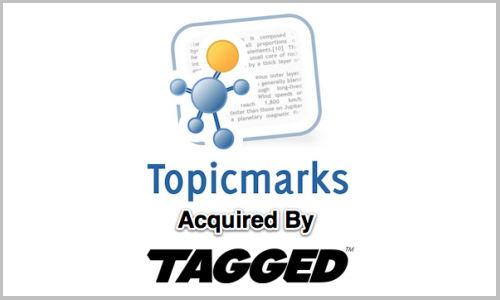 Tagged takes over Topicmarks