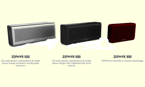 Zephyr wireless Bluetooth speakers