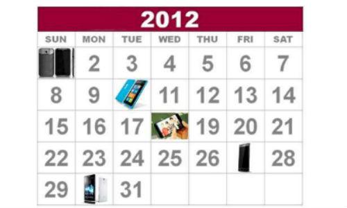 Smartphone releases in 2012