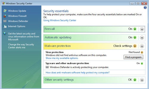 How to improve security in Windows Vista?