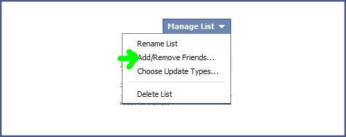How to manage friends list in Facebook?