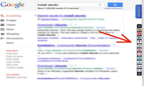 Google sidebar how to search internet information multiple
