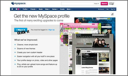 How to use latest MySpace 3 version to design profiles?