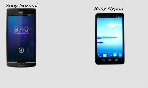 Sony Nyphon and Sony Nozomi: Superphone battle in the making