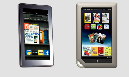 Amazon Kindle Fire, Barnes & Nook Tablet PCs compared