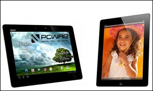 Powerful Android, iOS tablets Asus Transformer Prime and Apple iPad2