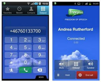 Freephoo VoIP app for iOS and Android in India