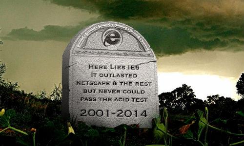 Internet Explorer 6 goes dead