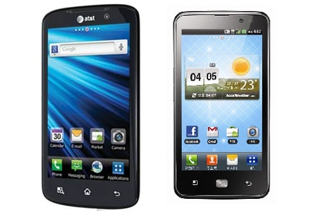 New LG Nitro and LG Optimus LTE- 4G Android Smartphones race