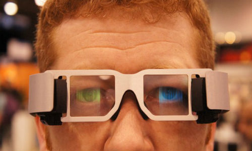 Lumus' transparent wearable displays at CES 2012