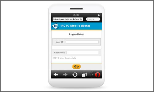 Reserve railway tickets using mobile website