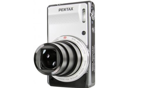 Pentax Optio VS20 two shutter button camera